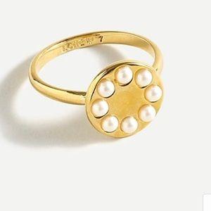 J. Crew Pearl Dot Disc Ring